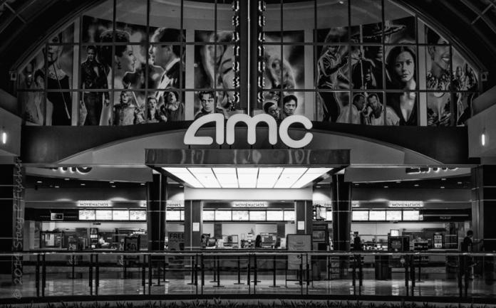 Empty movie theater lobby